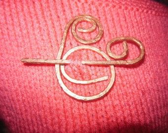 Stunning,Beautiful,Copper,Pendant, and Shawl Pin
