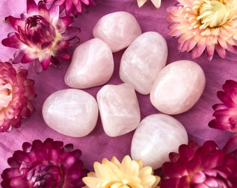 Rose Quartz - Self-Love, Acceptance, Heart Chakra Healer; Highly-Charged Tumbled Crystal