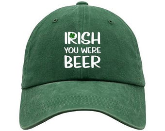 Irish you were beer Embroidered cap