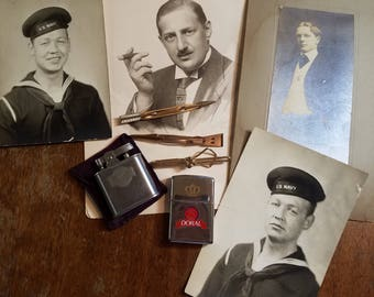 Vintage Mens Lot with Vintage Lighters and Tie Bars