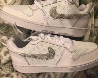 Bling Nikes! Bling shoes! Swarovski ! Free shipping!