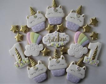 Unicorn cookies/Cupcake unicorn party