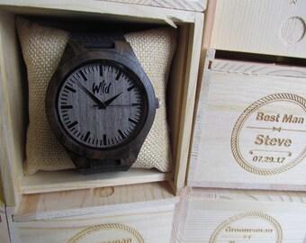 Groomsmen Package Set of 4 wooden watches, Weddings Gift, Bridesmade Gift, Groomsmen Gift, Best man Gift, Grooms Gift, Groomsman watch.