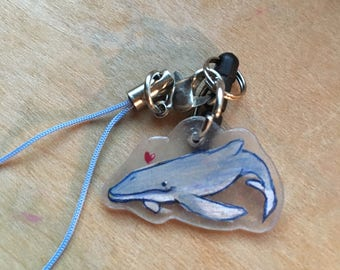 Little Blue Whale Cellphone Charm