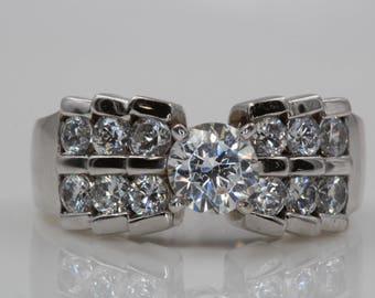 14kt White Gold Diamond Engagement Ring | 2443