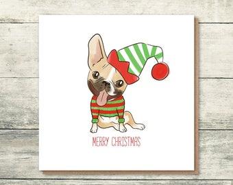 French Bulldog Holiday Cards - Frenchie Christmas Card - Frenchie lover - Dog Christmas Card - Xmas Cards
