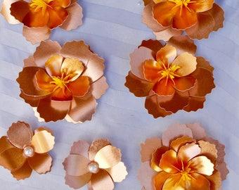 Hawaiian Flowers, paper flowers, paper flower, rustic wedding, custom flower, flower keepsakes, allergy free flower, hypoallergenic, flower