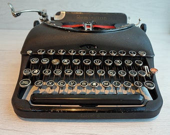 Antique Remington Portable Model 5 Typewriter with Case, 1930s Typewriter Working typewriter, Collectors Typewriter Rare Typewriter
