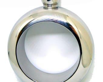 Customised 3.5oz (100ml) Ladies Hip Flask Bangle - 304 Stainless Steel