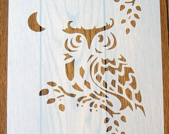 Wise Owl Stencil Mask Reusable Mylar Sheet for Arts & Crafts