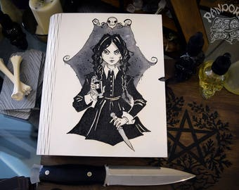 Book of Shadows,Sketchbook,Notebook - Wednesday Addams