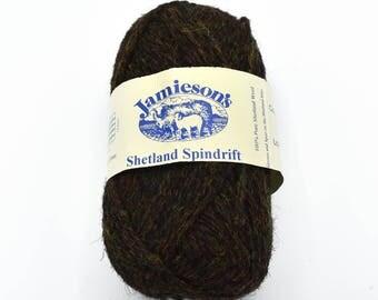 Brown Yarn - Shetland - Fair Isle - Knitting Wool - Shetland Wool - Yarn for Sale - Wool Yarn - Yarn Destash - Shetland Yarn - Knitting Yarn