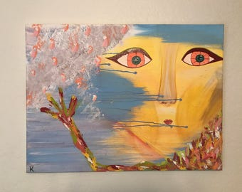 """ORIGINAL ACRYLIC PAINTING* """"Maybe Now, Maybe in the Future"""" by Kelly De Foreest"""