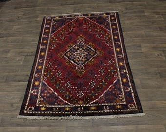 Stunning Hand Knotted S Antique Josheghan Persian Rug Oriental Area Carpet 4X7