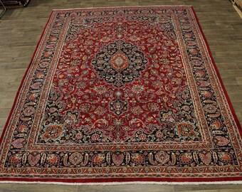 Lovely Semi Antique Plush Mashad Kashmar Persian Area Rug Oriental Carpet 10X13