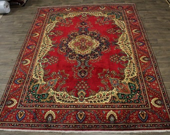 Mesmerizing S Antique Classic Tabriz Persian Rug Oriental Area Carpet Sale 10X13