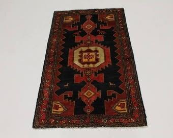 Delightful Hand Knotted Mussel Hamedan Persian Wool Rug Oriental Area Carpet 4X7