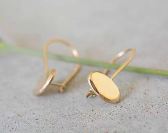 Bride earrings, classic earrings, solid 14k gold earrings, 14k gold earrings, Solid gold earrings, gold earrings, Elegant earrings, netamit