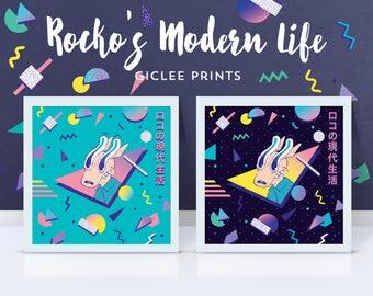 Rocko's Modern Life Giclee Print // 90s Pop Art