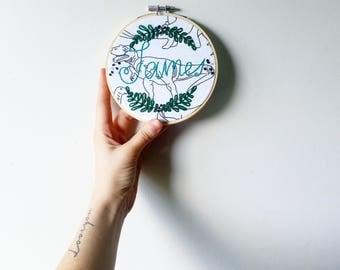 Custom Embroidery Hoop - Embroidered Name Hoop - Custom Nursery Hoop- Wall Decor - Home Decor - Custom Gift