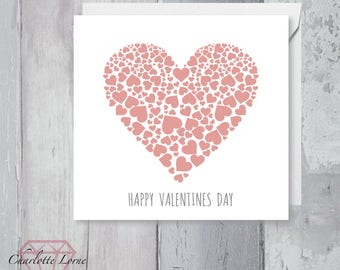 Valentines Day Love Card - Heart Card - Boyfriend - Girlfriend- Printable Card - Digital Download File - I Love You Card