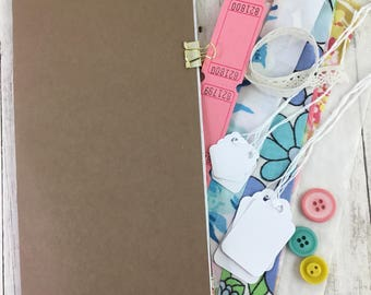 Standard  Size Sewing Journal Kit, Travelers Notebook Insert Kit, Midori Insert Kit,  Junk Journal Insert, Smash Book Insert,