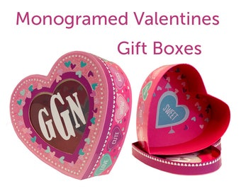 Monogrammed Heart Shaped Gift Box