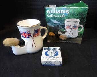 Vintage Williams Shaving Soap Collector's Set With Mug, Soap And Brush  1510