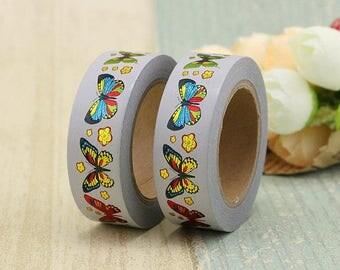 Gold Foil Butterflies Washi Masking tape