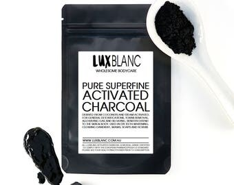 100% Pure Activated Charcoal/Carbon Powder | Food Grade | Teeth Polish & Whitening | Face Masks | Soap Making