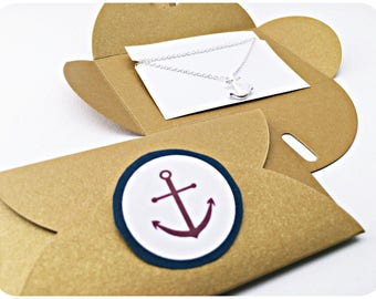 10x Chain anchor SILVER, packaging, gift idea, Anchor love, Anchor Gift