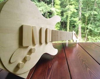 Handmade Guitar Shaped Planter by (Pretty Good Wood),