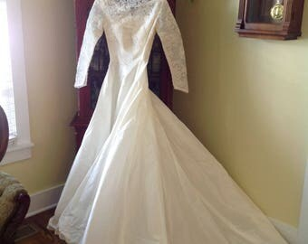 Vintage Wedding Dress / Gown 50's by William  Cahill