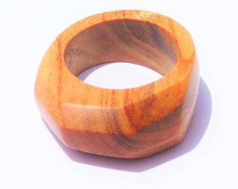 Apricot wood for women and men ring
