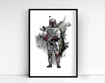 Star Wars 'Boba Fett' A4 Portrait
