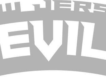 New Jersey Devils Wordmark Decal