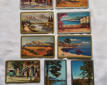 Vintage | Landscape | Paintings | Swap Card | Playing Cards