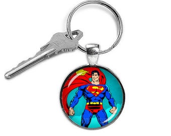 Superman Key Ring Superman Keyfob Superman  Keychain Superheroes Fandom Jewelry