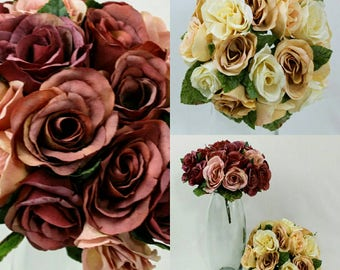 Rustic Sweetheart Rose Bouquets