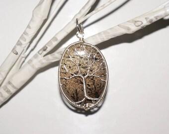 Picture Jasper Tree of Life Pendant