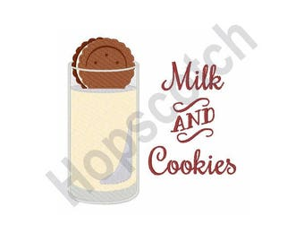 Milk And Cookies - Machine Embroidery Design
