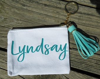 Personalized Zip Card Key Fob