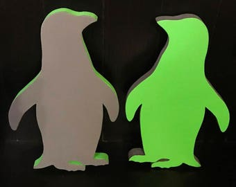 Wood Penguin Wall Decor