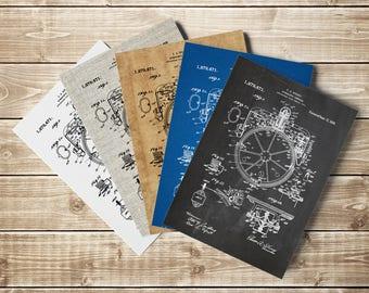 Gyrocompass Print, Compass Wall Decor, Gyrocompass Poster,Gyrocompass Patent,Compass Poster,Nautical Compass,Aviation Decor,INSTANT DOWNLOAD