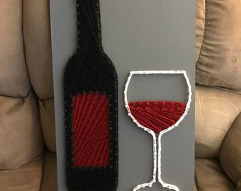 Wine String Art