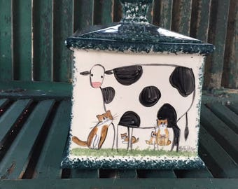 Cow Canister Set By Molly Dallas Cow Decor And Cow Collectibles   Cow Gift  Idea Or