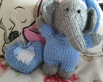 Knitted Baby Elephant Toy
