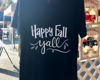 Happy Fall Y'all Shirts, Personalized Shirts, Fall shirts