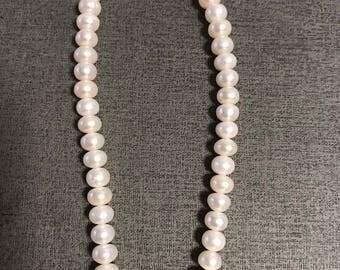 AAAA 7-8mm freshwater potato pearl,  wedding jewelry,necklace,pedant,earring,ring,sweaterchain