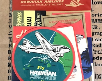 TRAVELER'S FACTORY Hawaiian Collection Hawaiian Air Sticker Limited Midori Made in Japan Rare Traveler's Notebook 07100406
